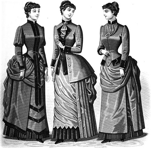 Plate 4: Promenade Costumes and Home Dress
