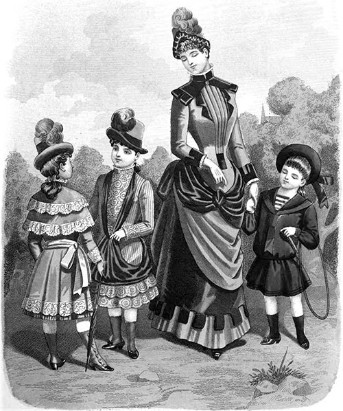 Plate 2: Fashions for Children and Young Ladies