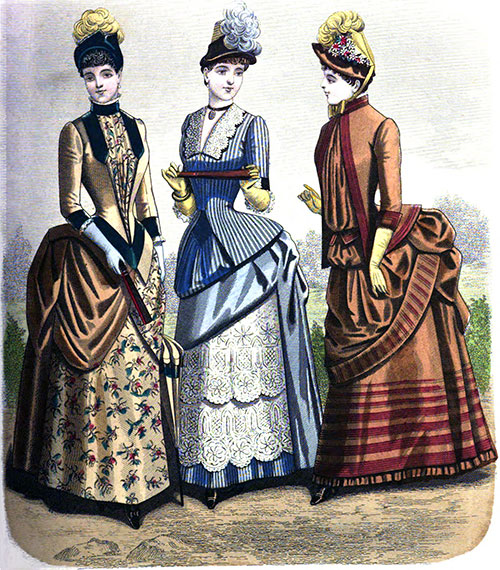 Plate 1: Visiting Costume, Breakfast Party Toilette, Morning Promenade Costume