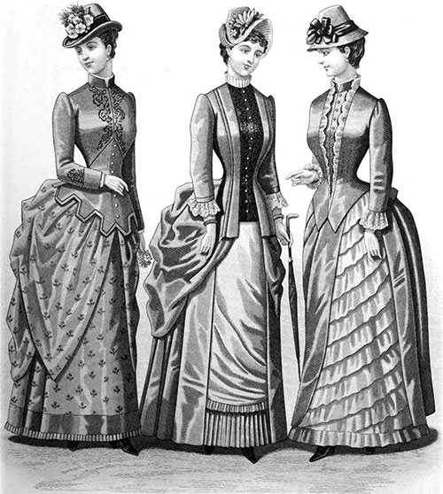 Plate 3: Promenade Costumes and Carriage Dress