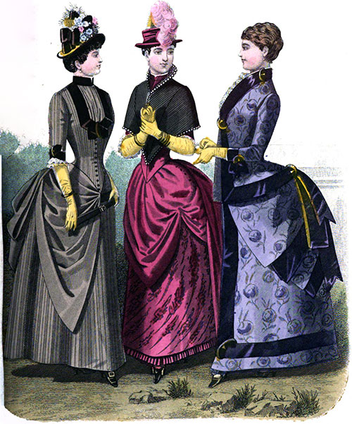 Plate 1: Walking, Carriage, and Reception Dresses