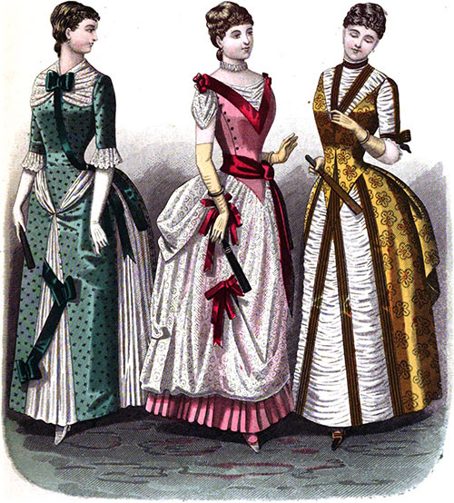 Plate 2: Dinner Dress, Evening Dress, and Dinner or Theater Toilette