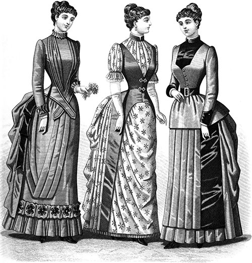 Plate 3: Home Costume, Dinner and Morning Dresses