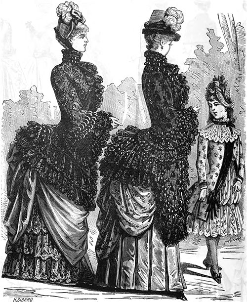 Plate 6: Stylish Visiting and Afternoon Costumes