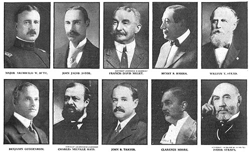 Some Very Distinguished Men Died in the Titanic Disaster of 15 April 1912