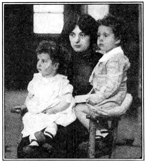 Waifs of the Titanic Found by Their Mother, Madam Michel Navratil of France.