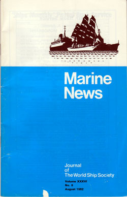 Front Cover, Marine News, August 1982
