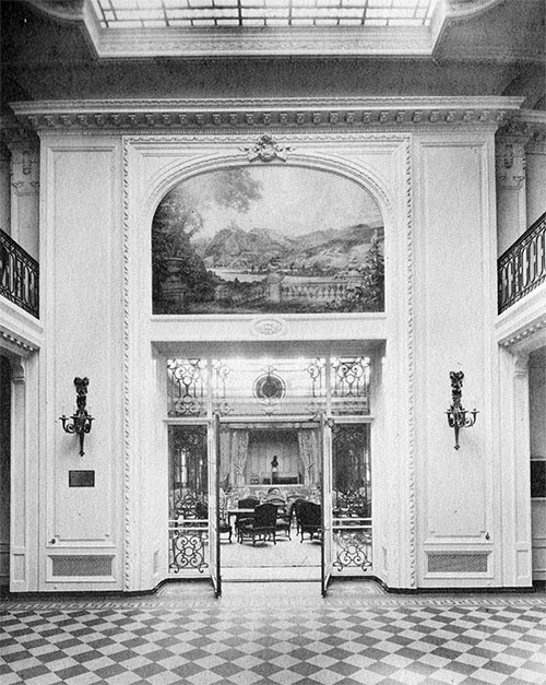 Entrance to Grand Salon, S.S. Vaterland (1914)