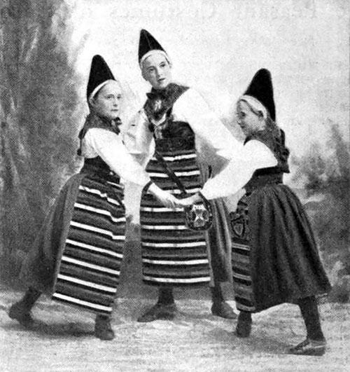Three Children Of The Old Swedish Province Of Dalecarlia