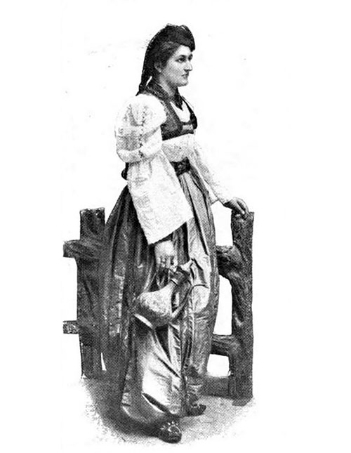 A Peasant Woman Of Bosnia In Gala Costume