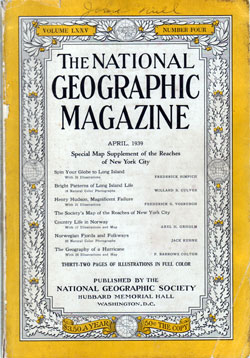 Front Cover, National Geographic Magazine, April 1939