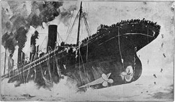 A Drawing by G. A. Coffin of the Sinking of the Titanic last Monday Morning at Three O'Clock.