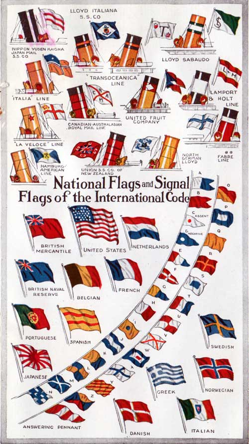 Flags, Funnels, National Flags and Signal Flags