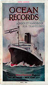 1923-05 Ocean Records: A Pocket Handbook for Travelers, Fifth Edition