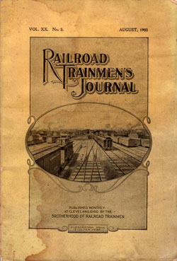 Railroad Trainmen's Journal, August 1903, Vol. XX, No. 6