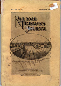 Railroad Trainmen's Journal, December 1903, Vol. XX, No. 12