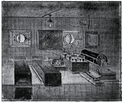 Marconi Wireless onboard an Allan Line Steamship