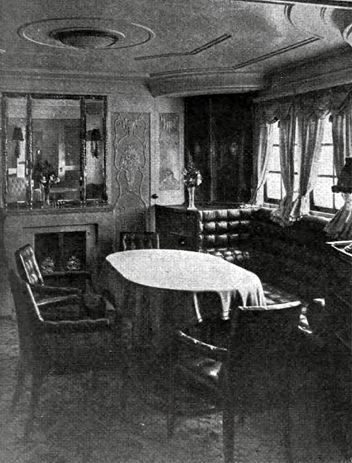 The dining room of the Presidential suite