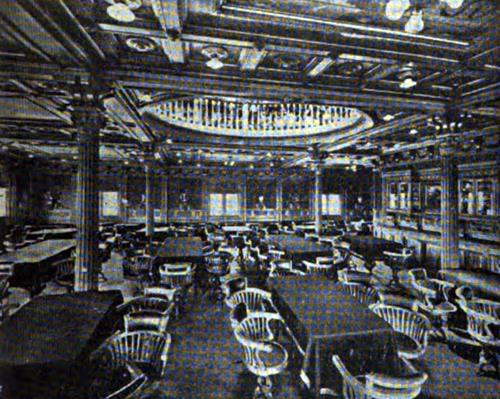 "FIRST CLASS DINING SALOON-""TOMASO DI SAVOIA"" AND ""PRINCIPE DI UDINE"""