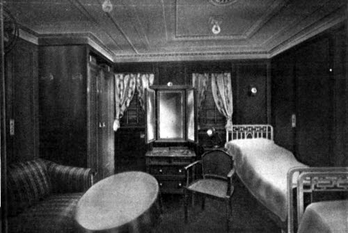 View of a First Cabin Stateroom