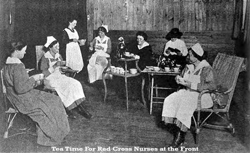 Tea Time for Red Cross Nurses at the Front