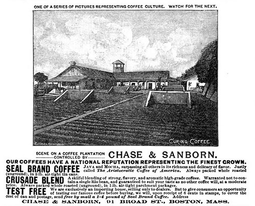 A Chase & Sanborn Advertisement - November 1888