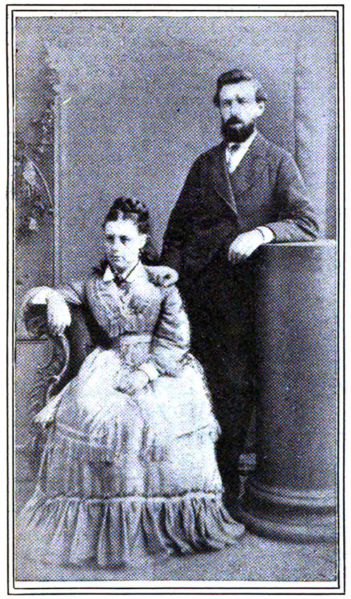 Photograph of Mr. and Mrs. W. T. Stead Taken during Their Honeymoon.