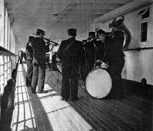 The Musical Stewards Form A Ship's Band