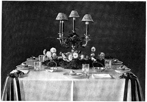 Christmas Dinner Table, Dessert Service
