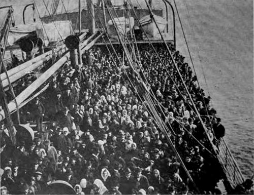 A Typical Crowd of Immigrants