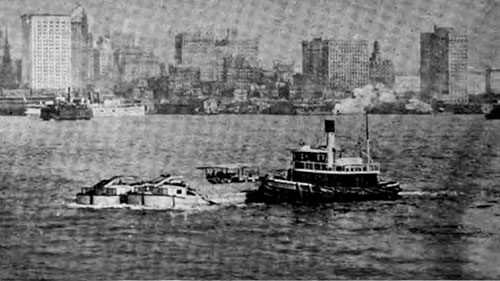Tugboats in New York Harbor
