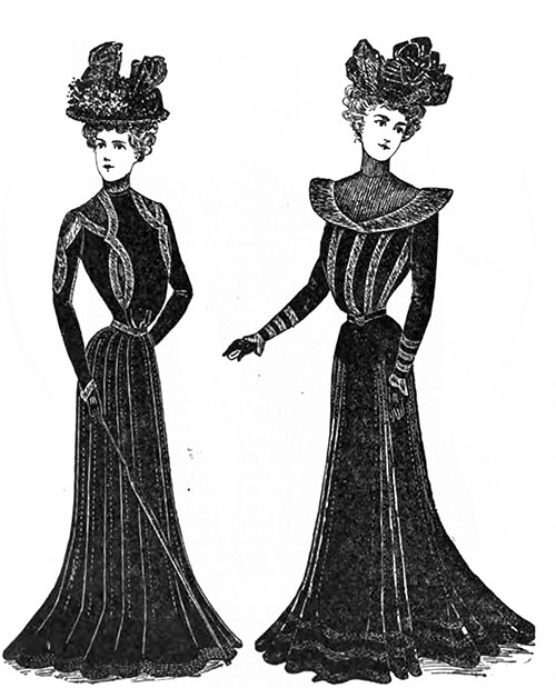 Mourning Costumes 8 and 9.