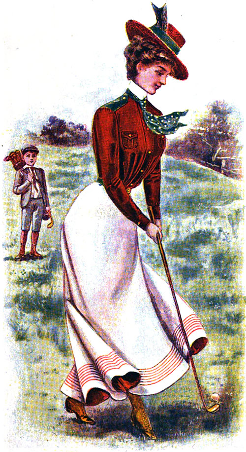 Women's Activewear 1880s-1930s (Golfing Costume from 1900)