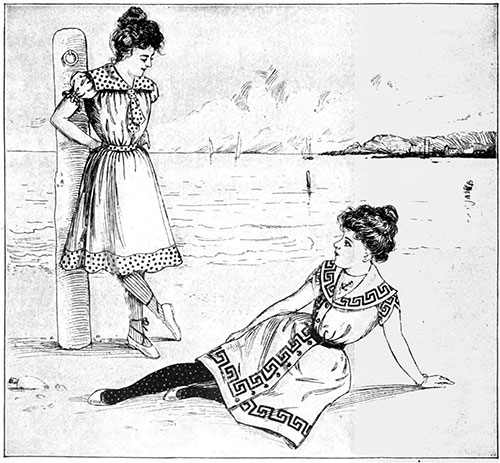 Bathing Costumes 1 and 2 from July 1900
