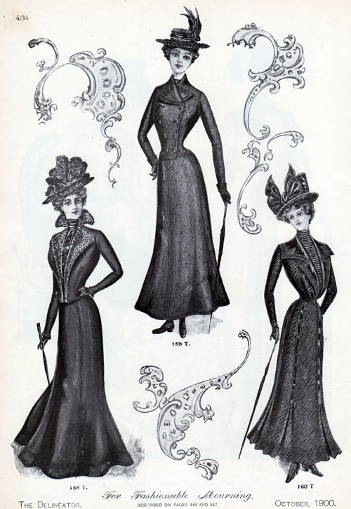 Vintage Fashions Women S Fashionable Mourning Outfits
