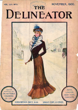 Front Cover of the Delineator Magazine, November 1900