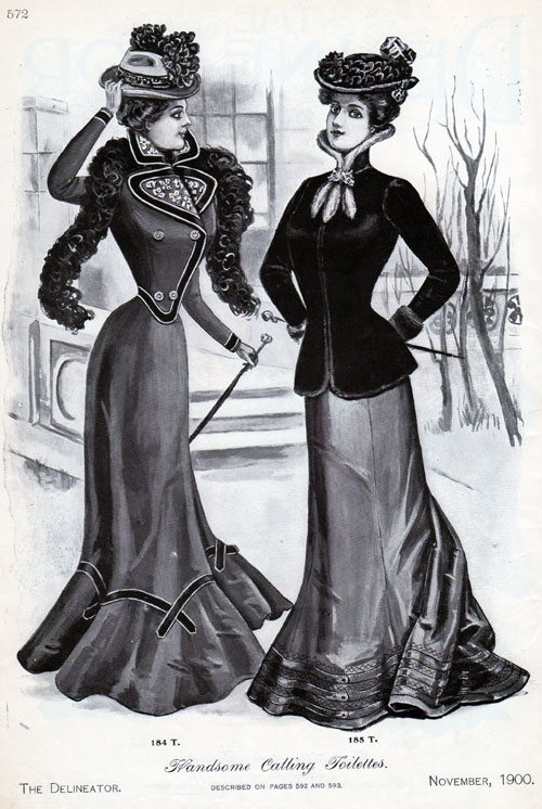 vintage fashions handsome calling toilettes for women