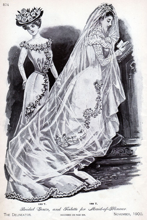 Bridal Gown, and Toileete for Maid-of-Honour