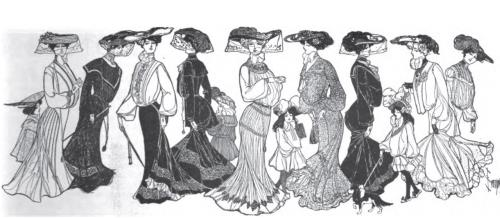 Womens Fashions Of Today - Circa June 1903