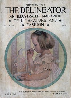 Front Cover, The Delineator, February 1904 : An Illustrated Magazine of Literature and Fashion