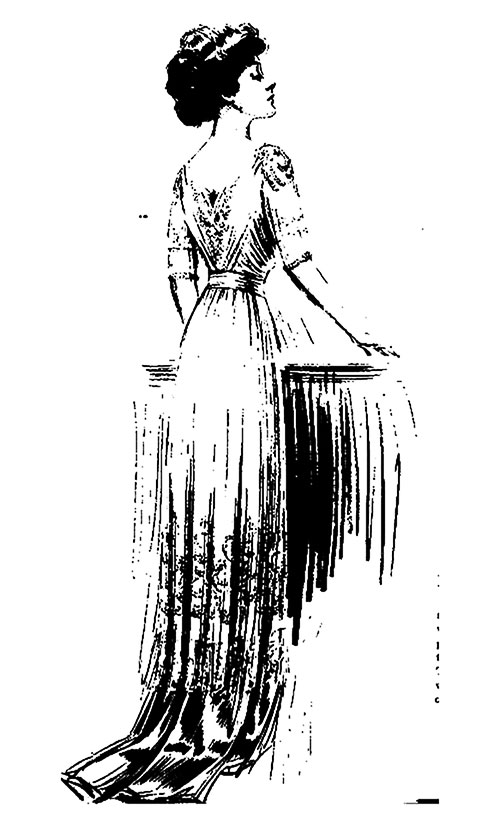 Complex Character of Chiffon Wraps and Dresses - 1910