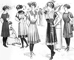 Several Designs for Bathing Suits - 1911