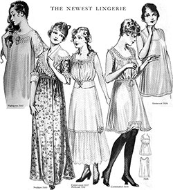 Styles in Lingerie and Kindred Lines for June 1915