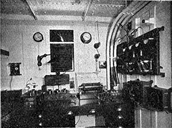 Fig. 20: Marconi Apparatus in Operating Cabin.
