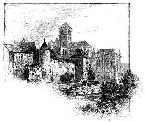The Burned Benedictine Abbey at Fécamp, France.