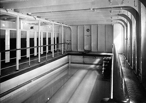 First Class Swimming Pool on the Titanic.