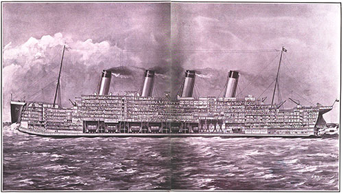 The Biggest Ship in the World Shown in Section