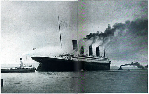 White Star Liner 'Titanic' Leaving Southampton for Her First Trip to New York
