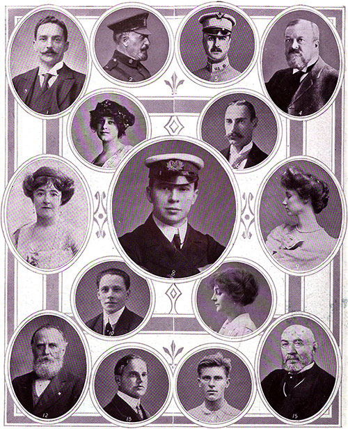 On Board the RMS Titanic in the Great Disaster: Notable Passengers.