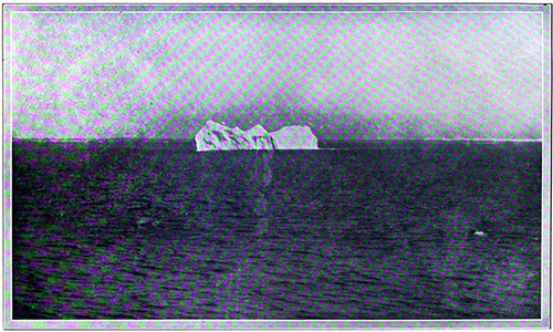 Akin to That Which Gave the RMS Titanic Her Death-Blow: An Iceberg. Which Was Probably Part of the Ice-Field Encountered by the Ill-Fated Vessel.
